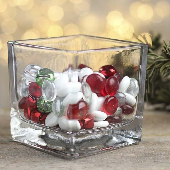 Christmas Gems And Jingle Bells Vase Fillers Table