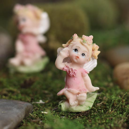 Miniature Baby Fairy Figurines 12pcs Its A Girl Theme Baby