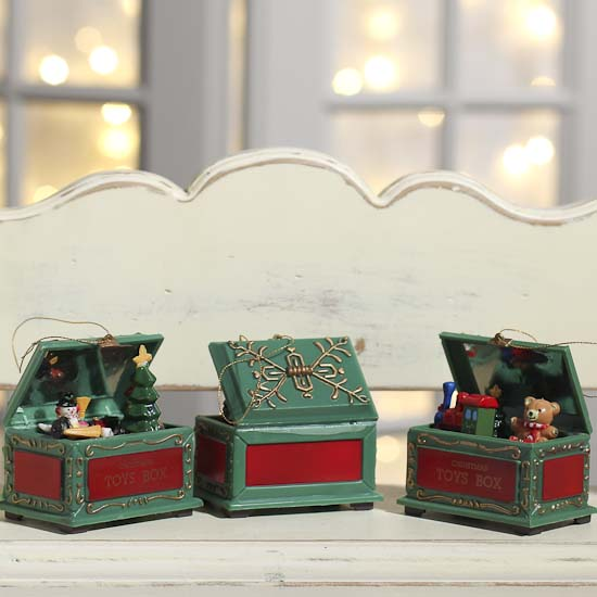 Christmas Toy Box : Christmas toy chest ornament and winter sale