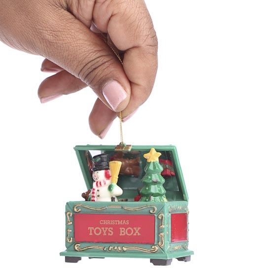 Christmas Toy Box : Christmas toy chest ornament ornaments