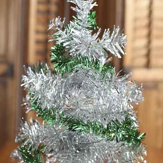 Green tinsel garland with gold stars christmas garlands