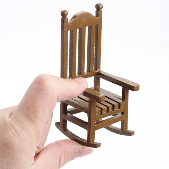 Miniature wood rocking chair what 39 s new dollhouse Wood rocking chair