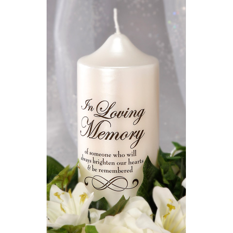 Quot In Loving Memory Quot Candle Decal Candles And Accessories