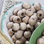 Round Unfinished Wood Beads