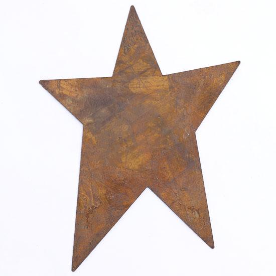 Rusty Tin Primitive Star - Rusty Tin Cutouts - Basic Craft Supplies - Craft Supplies