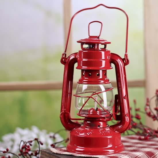 Reproduction red railroad lantern home decor