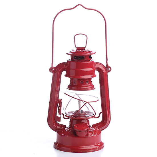 Reproduction red railroad lantern home decor