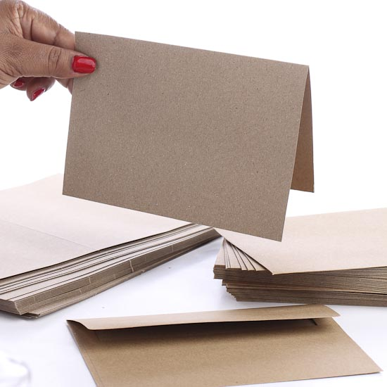 blank kraft cards and envelopes  paper crafting  craft