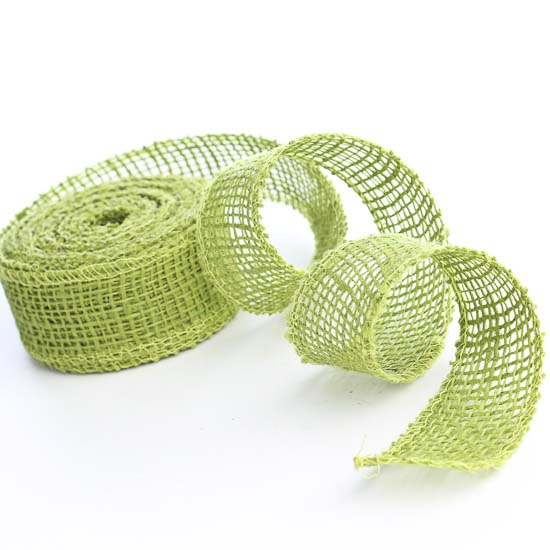 Apple green jute burlap ribbon burlap ribbon ribbon for Green burlap ribbon