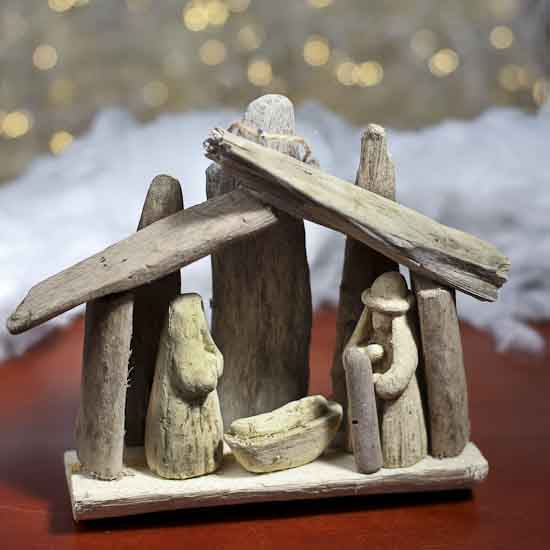 Jesus Ornaments Jesus Ornament Designs: Driftwood Nativity Scene Ornament