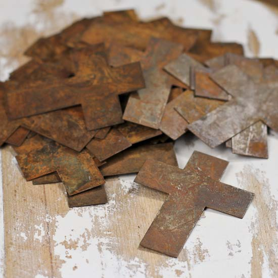 Bulk primitive rusty tin crosses rusty tin cutouts for Wholesale wood craft cutouts