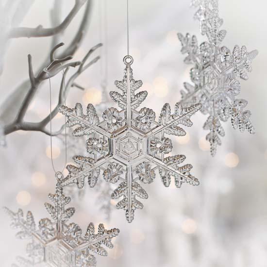 Clear acrylic snowflake ornaments christmas
