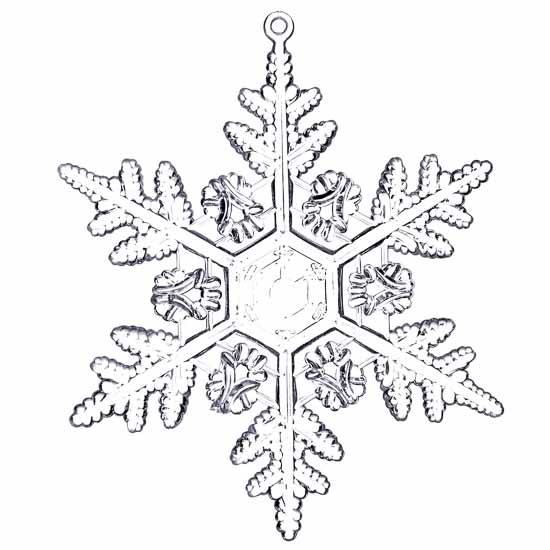 clear acrylic snowflake ornaments - christmas ornaments - christmas and winter
