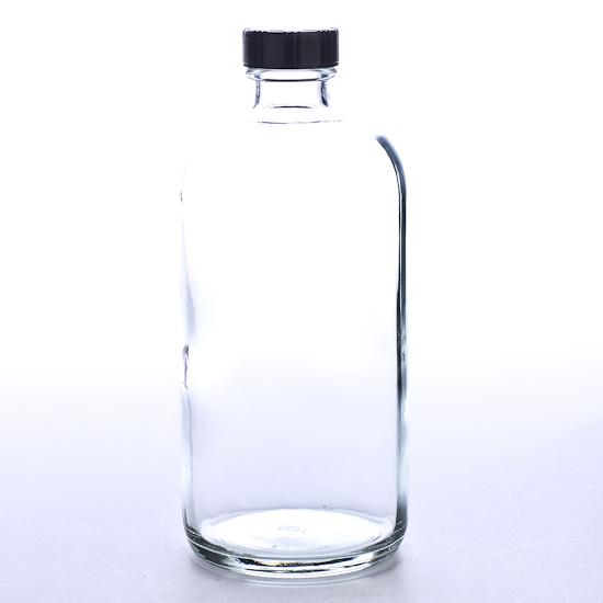 Clear Glass Apothecary Bottle Soap Pumps Lids Jars