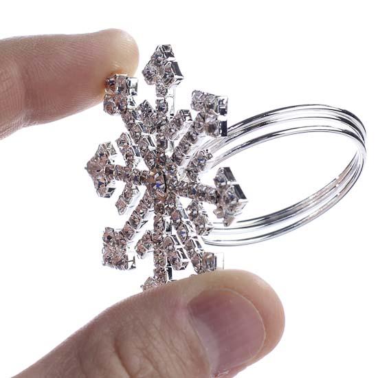 Dazzling Snowflake Napkin Ring