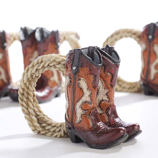 Cowboy Boot And Lasso Napkin Rings Western Theme Party