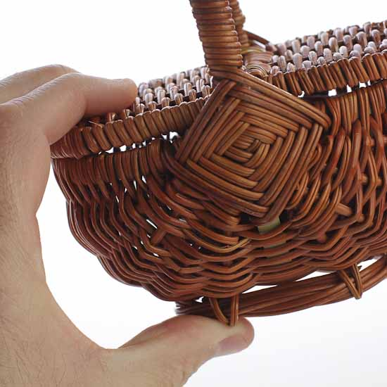 Bamboo Basket Making Supplies : Mini wicker picnic basket doll accessories making