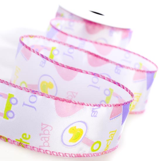 baby girl wired ribbon it 39 s a girl theme baby shower baby shower