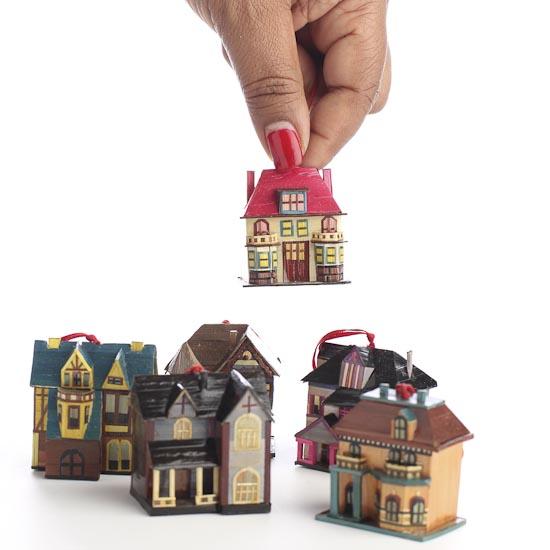 Miniature Victorian House Ornaments