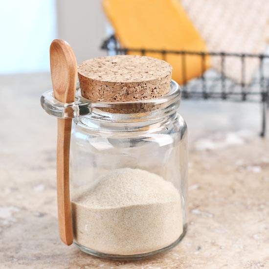 Clear Glass Jar With Wooden Spoon