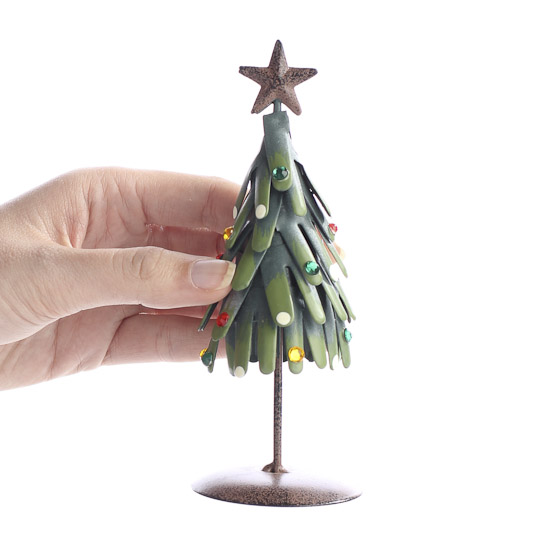 Metal Tabletop Christmas Tree: Rustic Metal Christmas Tree