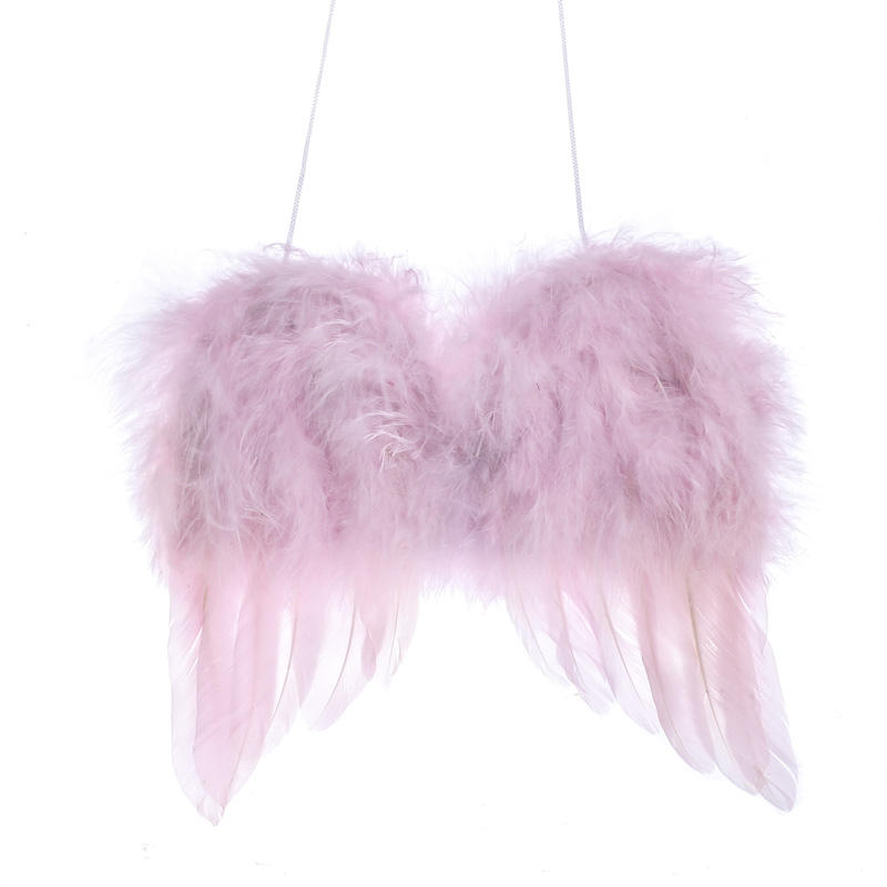 Light Pink Feather Angel Wings Angel Wings Doll