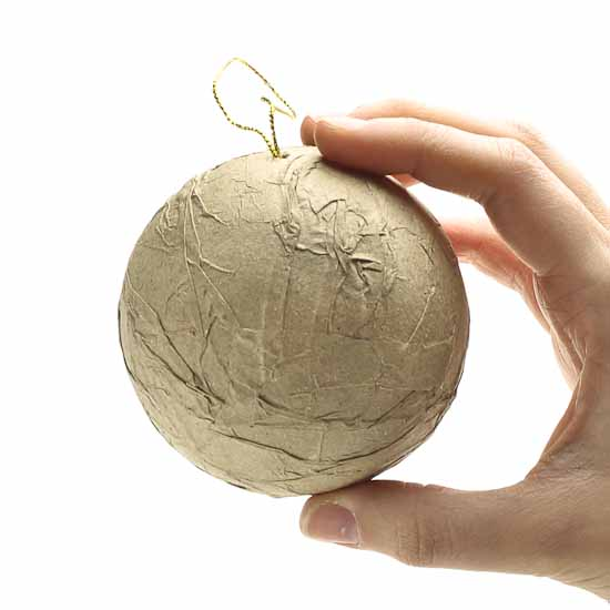 Textured Paper Mache Ball Ornament Paper Mache Basic