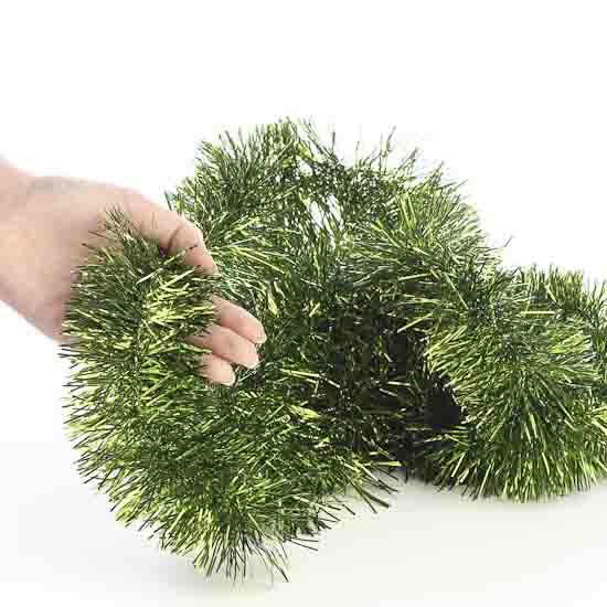 Metallic green tinsel garland christmas and winter sale