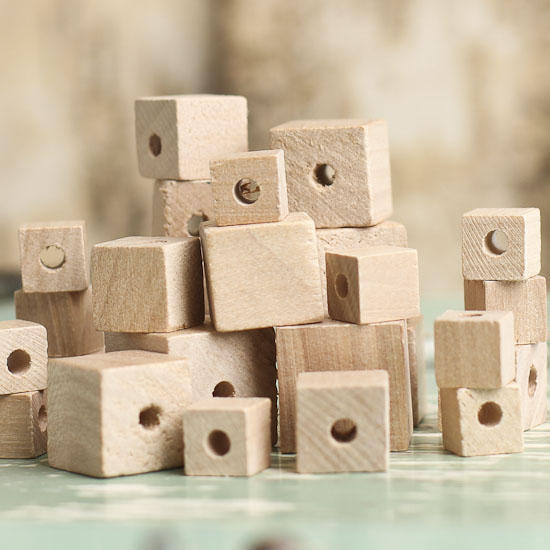 Assorted unfinished wood cube beads wooden cubes for Wooden craft supplies online