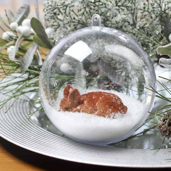 100mm Clear Acrylic Fillable Ball Ornament