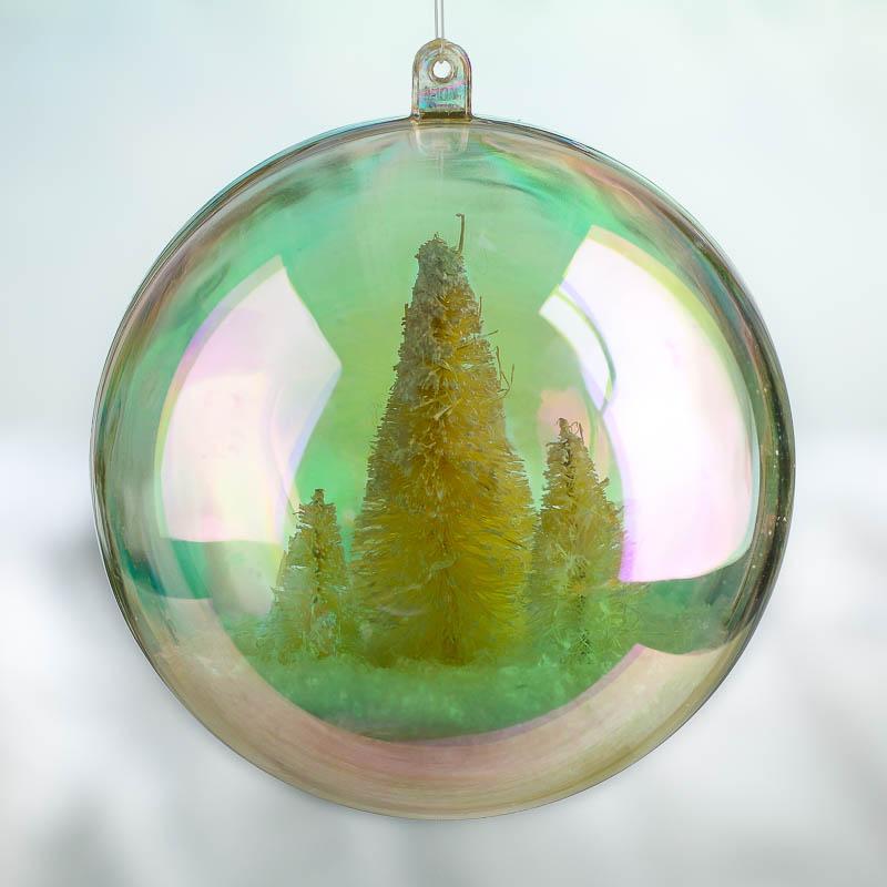 100mm aurora borealis acrylic fillable ball ornament. Black Bedroom Furniture Sets. Home Design Ideas