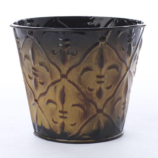 Fleur di lis embossed planter baskets buckets boxes home decor - Fleur a planter ...