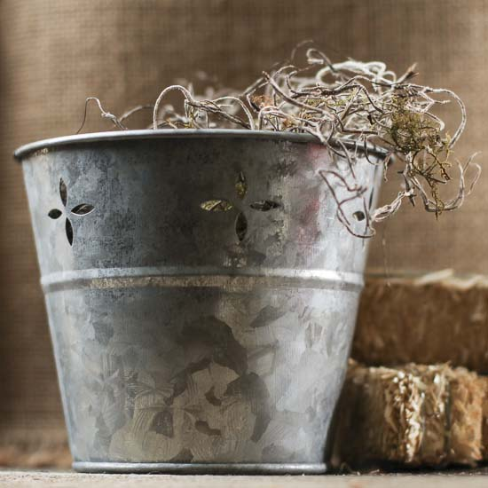 Small Galvanized Tub Planters Containers Floral