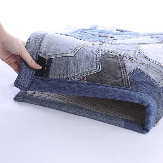 Denim Rug From Old Jeans: Patchwork Denim Jean Rug