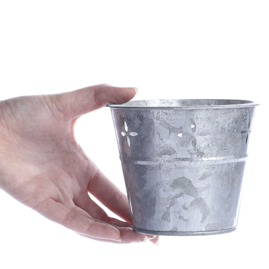 Small Galvanized Metal Tub Baskets Buckets Boxes