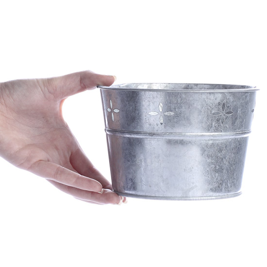Galvanized Metal Tub Baskets Buckets Boxes Home Decor