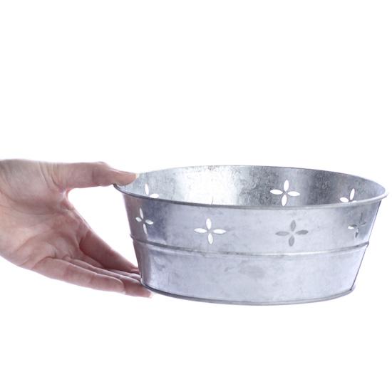 Decorative Galvanized Metal Tub Baskets Buckets