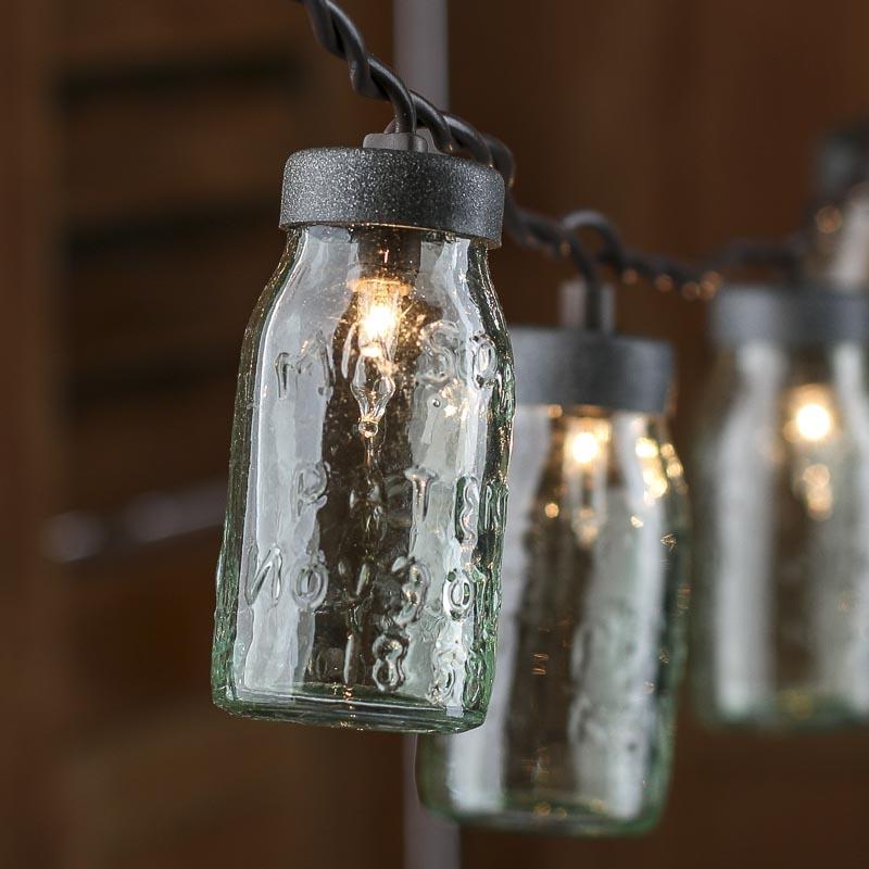 Glass Jar String Lights : Small Glass Mason Jar Light Covers - Lighting - Christmas and Winter - Holiday Crafts