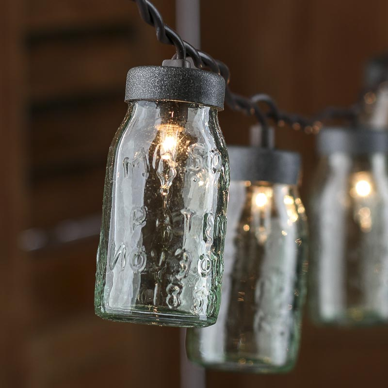 Small Glass Mason Jar Light Covers - Lighting - Christmas and Winter - Holiday Crafts