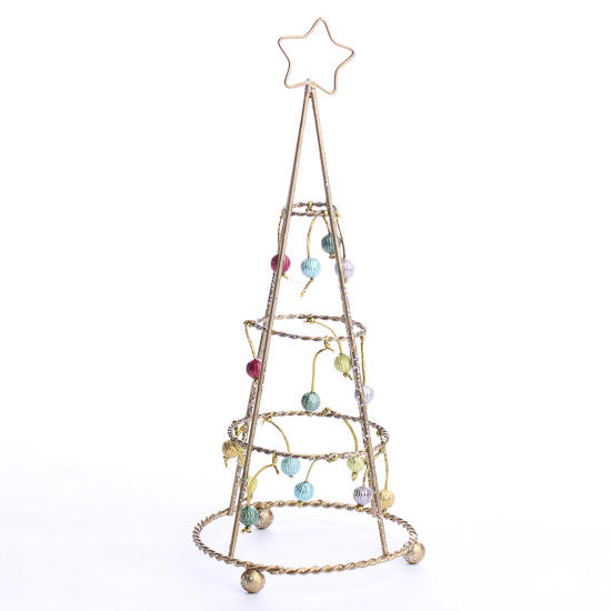 retro gold wire christmas tree table decor christmas. Black Bedroom Furniture Sets. Home Design Ideas