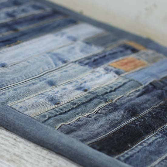 Upcycled Patchwork Denim Jean Rug Textiles And Linens