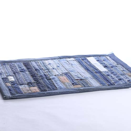 Denim Rug From Old Jeans