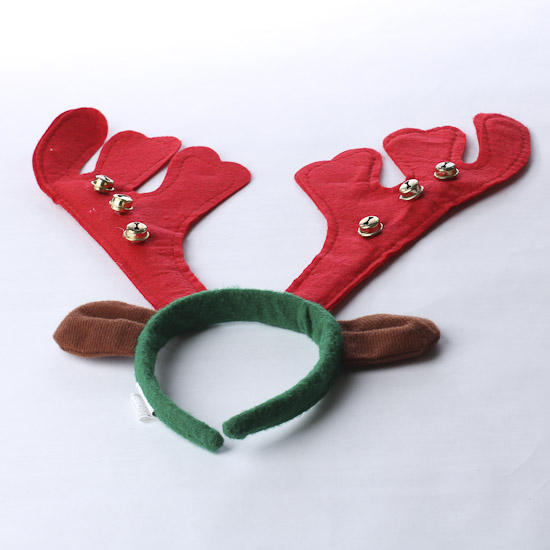 Holiday reindeer antler headband holiday craft supplies for Reindeer antlers headband craft