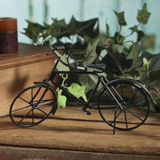 miniature black metal bicycle - beach wedding shower favors