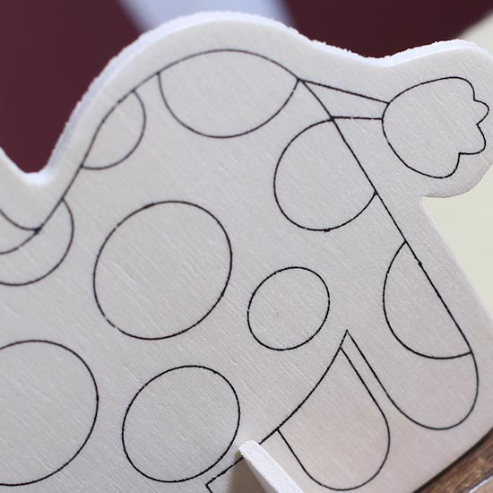Ready-to-Color Wooden Giraffe Cut Out Kit - Wood Cutouts ...