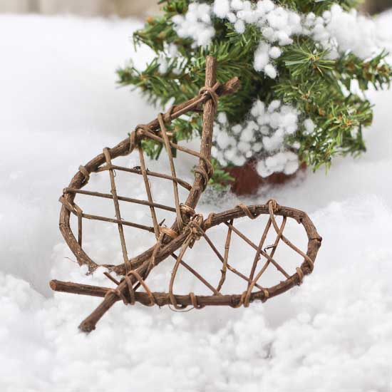 Snowshoe Ornament 100 Images Santa On