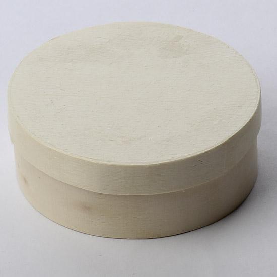 Mini round balsa wood cheesebox paper mache basic for Circular wooden box