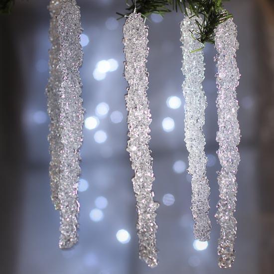 Crystal Icicle Ornaments Christmas Ornaments Christmas