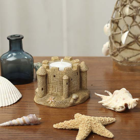 Sand Castle Tealight Holder Coastal Decor Home Decor