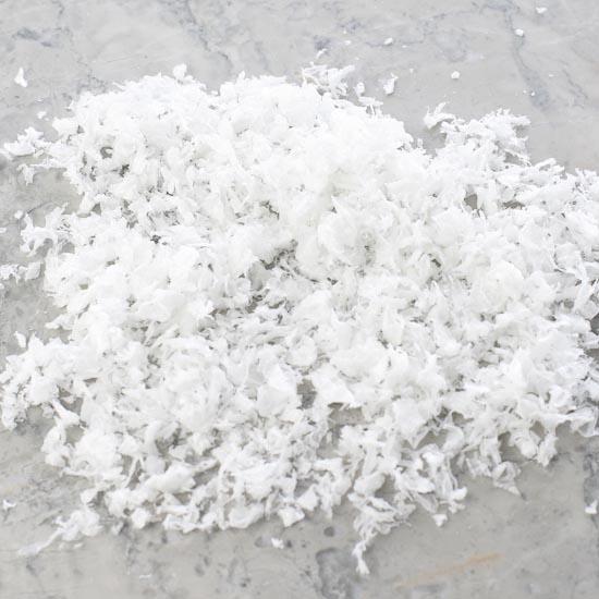 Artificial snow craft supplies
